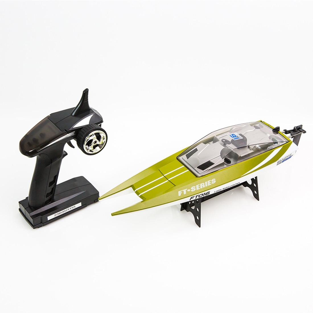 Cadeau d'anniversaire pour enfants jouet de bateau RC Feilun FT016 2.4G télécommande hors-bord pour enfants Kits de jeu en plein air