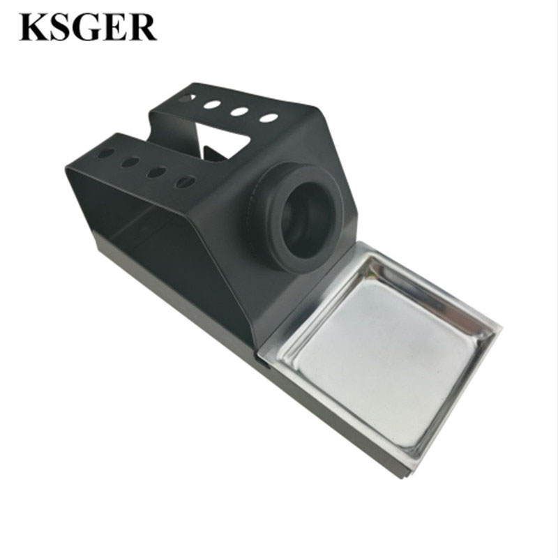 KSGER DIY Soldering Iron Station Stand T12 Holder Welding Iron Tips STC STM32 Metal Handle Aluminum Alloy Tools Welding Repair
