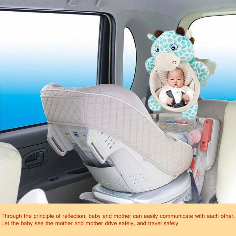 1pc Car Safety Back Seat Rearview Mirror Safety Car Back Seat Rearview Mirror Adjustable Infant Baby Rear View Monitor Mirror
