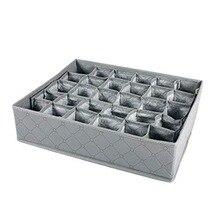 1 шт. шкаф ящик организатор 30 отсеков бюстгальтер, нижнее белье галстук хранения коробки для носков-серый