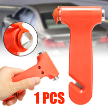 Car Safety Hammer 1pc 2 in1 Car Emergency Safety Escape Hammer Window Glass Breaker Seatbelt Rescue Tools стоимость