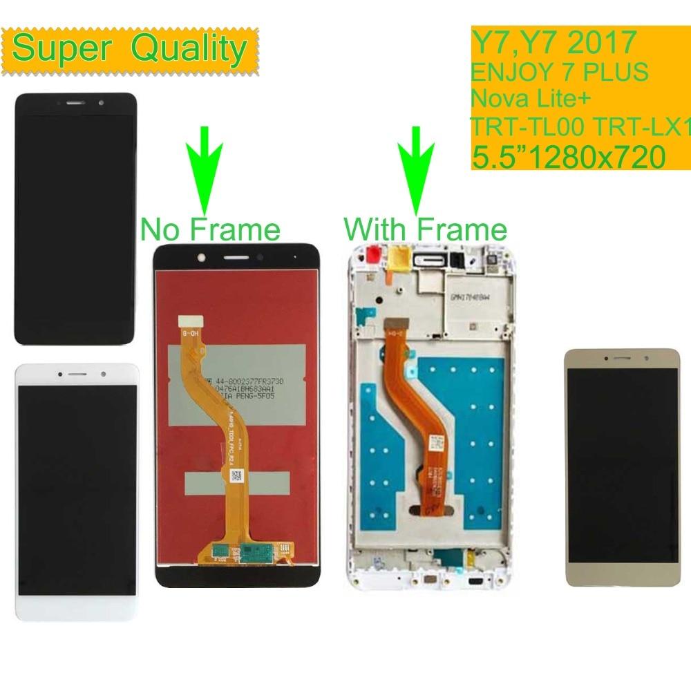 10 pz/lotto Per Huawei Y7 2017 TRT LX1 Nova Lite + Display LCD Assemblea di Schermo di Tocco Con Telaio Per GODERE di 7 PIÙ TRT AL00 LCD-in Schermi LCD per cellulare da Cellulari e telecomunicazioni su  Gruppo 1