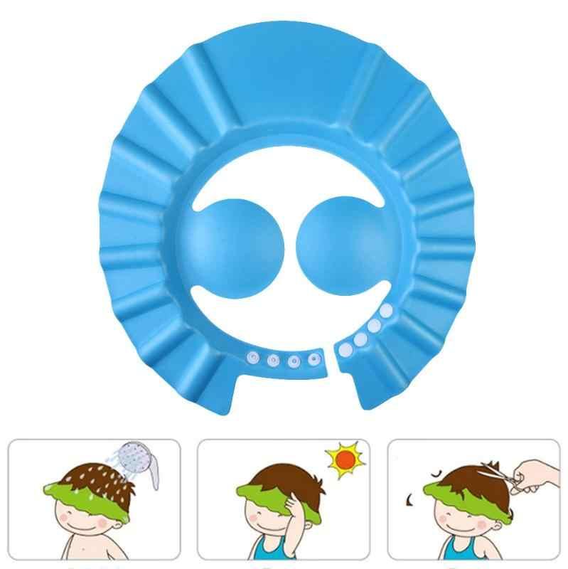 Модный шампунь против выпадения волос шапочка для ванны и душа мытье волос козырек для защиты ушей Регулируемый уход за детьми Водонепроницаемый глаз протектор
