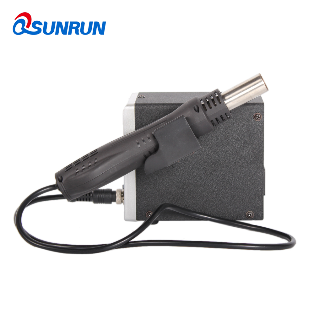 Image 2 - Qsunrun 858D BGA Soldering Station, 700W Hot Air Gun, 858D+ ESD LED Digital Display SMD Desoldering Station with 3 Nozzles-in Electric Soldering Irons from Tools