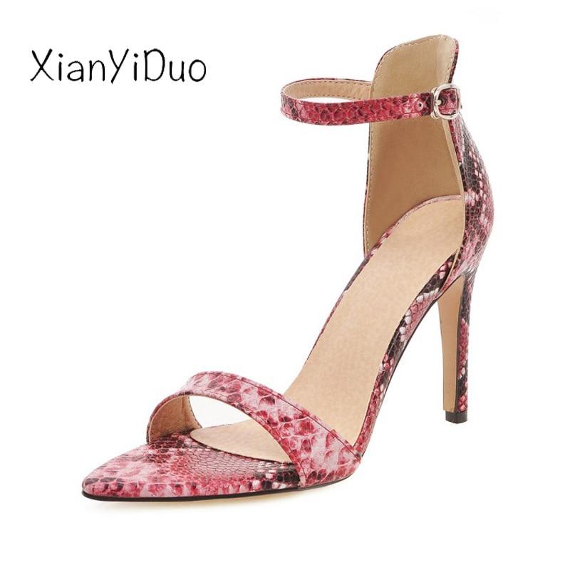 À Grande Mince rouge Ouvert Talons Bleu Chaussures Sexy Partie Mode 85 48 Hauts blanc Femmes 2019 Nouvelle Léopard Bout 34 Sandales De Super Taille 2 D'été vnIfSAqa
