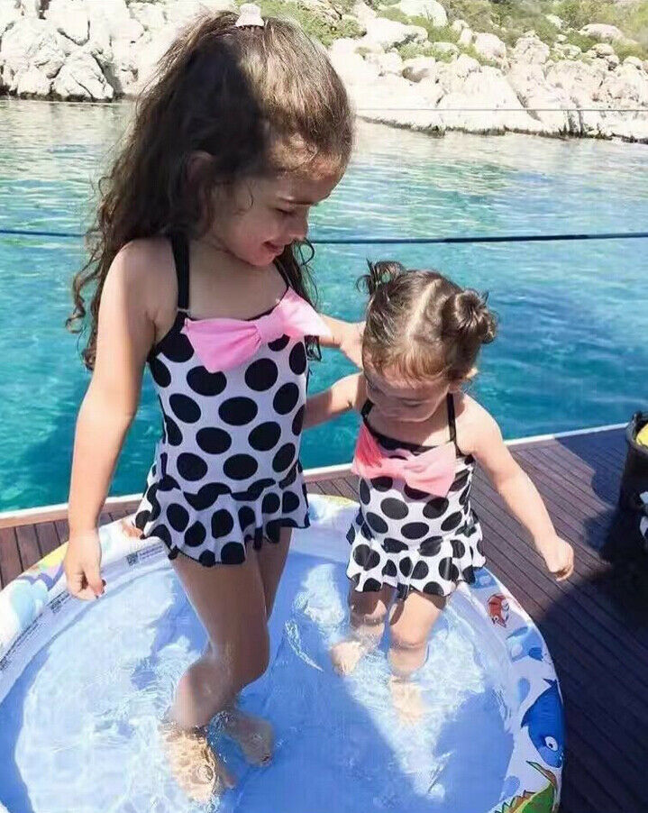 Kids Girls Swimming Bikini Costume Swimwear Swimsuit Beach Clothes Clothing US