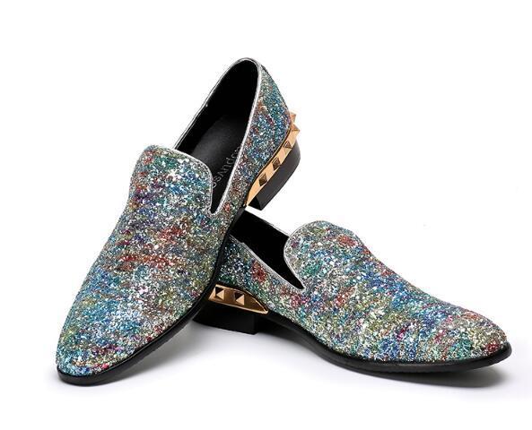Brillo Euro On 46 Vestido Boda De Brillante Flats Zapatos As Xzraqwua8b Tamaño Fiesta Show Slip Hombre Gran q5vHHdRnw