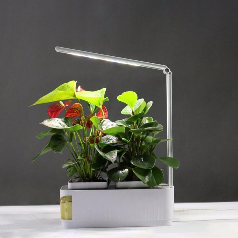 Multifunctional Smart Indoor Herb Gardening Planter Kit Herb Hydroponic Growing Pot System Adjustable LED Desk Reading