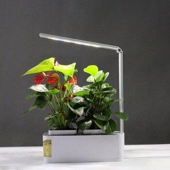 Smart flower pot Herb Garden Kit LED Grow Light Hydroponic Growing Multifunction Desk Lamp Garden Plants Flower Hydroponics