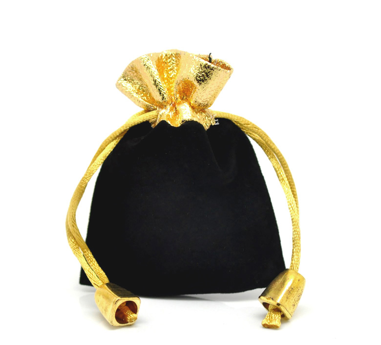 Drawstring Pouches Gift-Bags Jewelry Velvet X3 Black 10pcs 7cmx9cm 4/8-