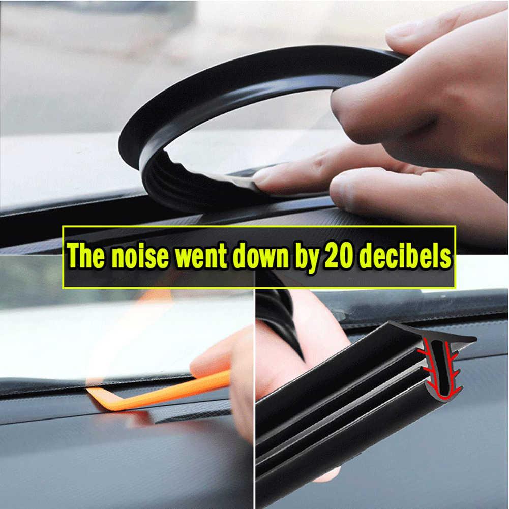 سيارة المطاط الصوت شريط عازل 1.6 متر U نوع لوحة القيادة العزل السيارات الزجاج الأمامي حواف الفجوة شرائط عزل اكسسوارات السيارات الداخلية