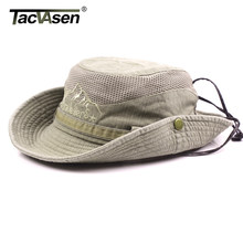 TACVASEN Military Men Tactical Hats Sun Boonie Hat Summer Sun Protection Cap Men's Safari Army Fish Hunt Hats Adjustable YWXJ-01(China)