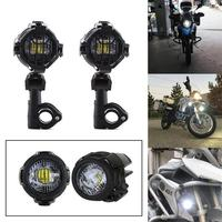 1 Set Universal Motorcycle LED Auxiliary Fog Light Assemblie Driving Lamp 40W Headlight For BMW R1200GS/ ADV/ F800GS DC 10V 24V