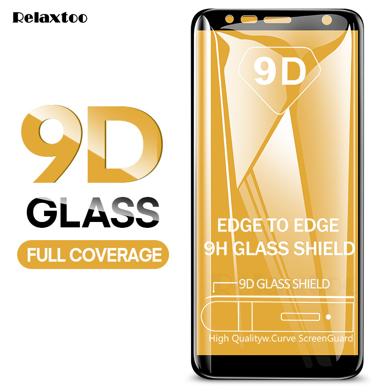 9D Curved Tempered Glass For Samsung Galaxy J4 J6 Plus A7 A6 A8 Plus 2018 Screen Protector Glass On A7 2018 A750 Protective Film