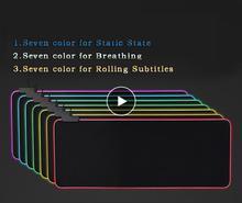 DSstyles супер большой RGB светодиодный USB игровой коврик для мыши из натурального каучука с подсветкой нескользящий Настольный коврик