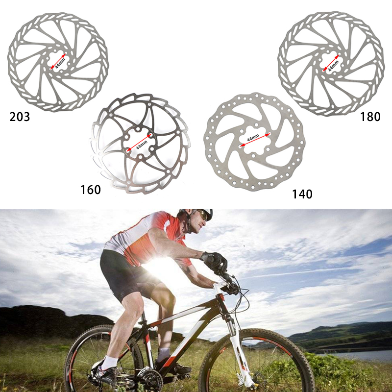 160//180//203mm Front Rear Rotor MTB Bicycle Brake Disc Rotors Stainless Steel UK