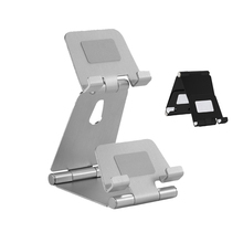 Phone Holder Aluminum Alloy Rotatable Stand Desktop Double Table Bracket  For Iphone X Samsung Tablet