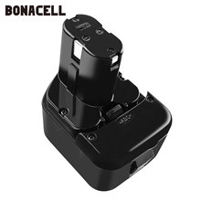 Bonacell 12V 3.0Ah Battery for Hitachi EB1214S EB1212S EB1220HS 324360 322434 Eb1220bl DS12DVF3 DN12DY DH15DV EB1220HL L50 цена и фото