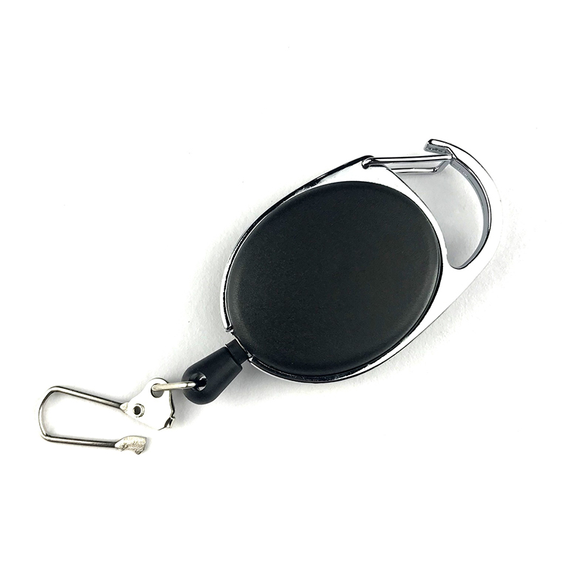 Multifunctional  Retractable Pull Key Ring Chain Reel ID Lanyard Name Tag Card Badge Holder Reel Extendable Belt Key Ring Clip