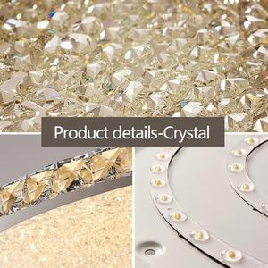 Image 5 - Yeni yuvarlak kristal avize ışıkları ev aydınlatma led lamba oturma odası yatak odası plafonnier yuvarlak led avize lampadari armatürleri