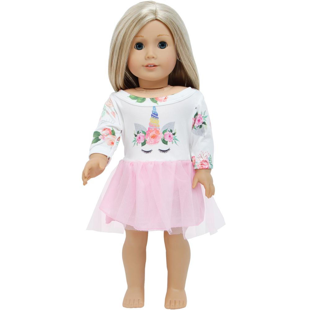 Doll Clothes For 18 inch Girl Dolls Pink Tee and Skirt American Made