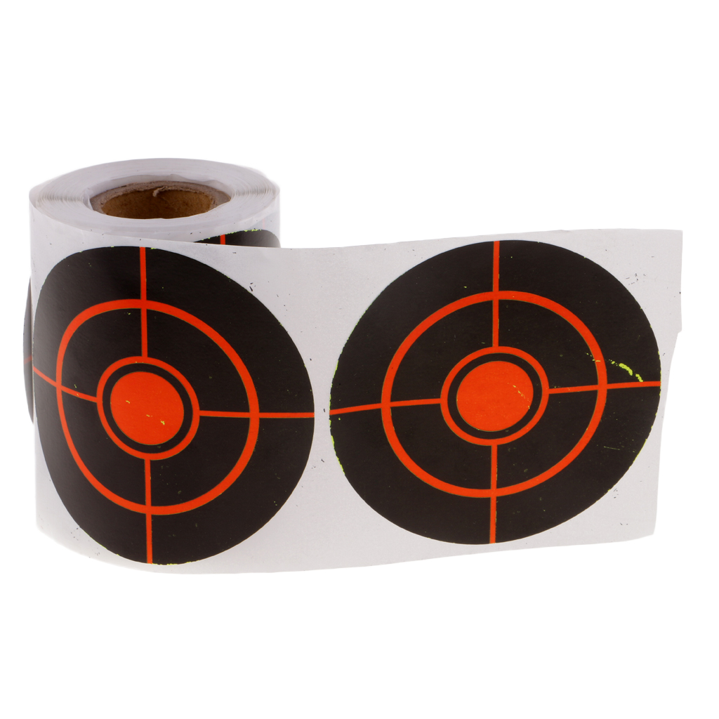 100pcs Shooting Splatter Paper Targets Reactive Adhesive Paper Targets For Hunting Archery Arrow Training Shoot Accessories