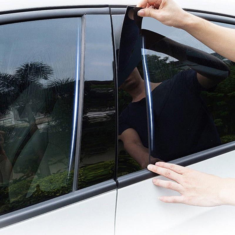 6pcs Car Window Pillar Trim Decoration Cover Sticker Black Plastic High Quality Auto Window Pillar Trim For Honda CR V CRV 17 18-in Chromium Styling from Automobiles & Motorcycles