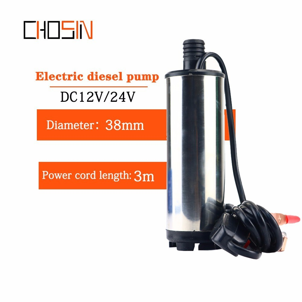 12v 24v ,stainless Steel Shell, Dc Electric Submersible Pump For Pumping Diesel Oil Water ,12l/min,fuel Transfer Pump 12 V Volt
