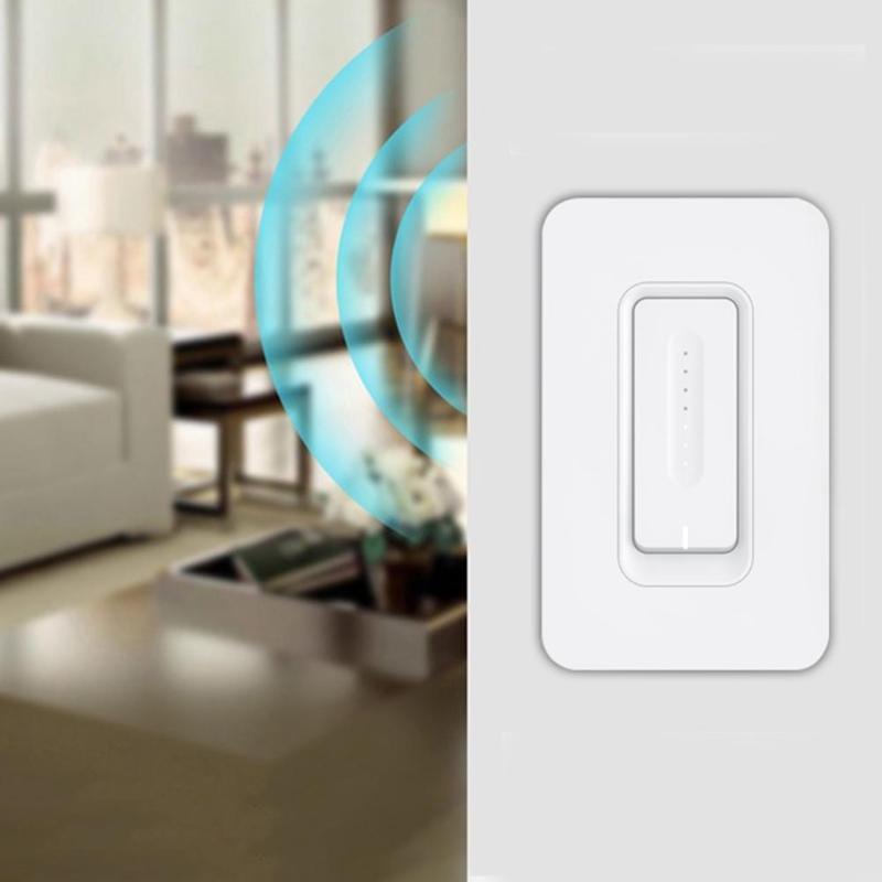 Interrupteur de commande tactile intelligent gradateur de lumière WiFi interrupteur tactile de montage mural avec AC 100-240 V 50/60 hzveille deux Types de contrôle
