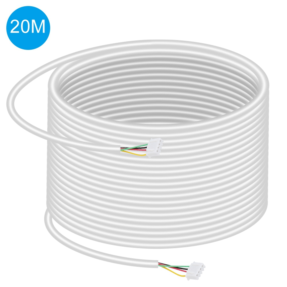 4-Core Copper 20m Round Flexible Copper Cable For Video Door Phone Intercom System