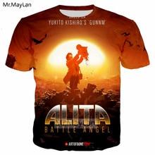 2019 Movie Alita: Battle Angel 3D Print Tshirt Men/women Hip Hop Streetwear Tee T shirt 90s Boy New Design Cool Tops Clothes 5XL цены онлайн