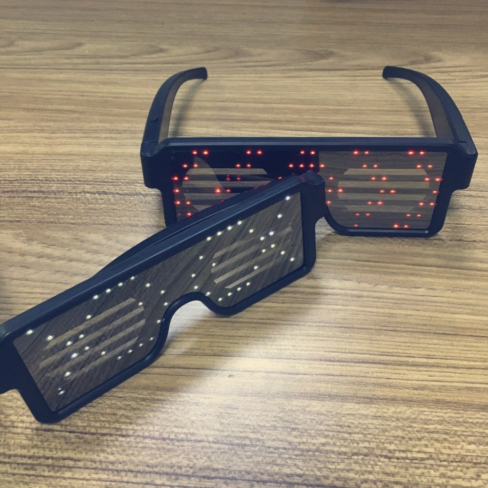 2019 new year glasses LED party cheap colored glasses kids sun glasses