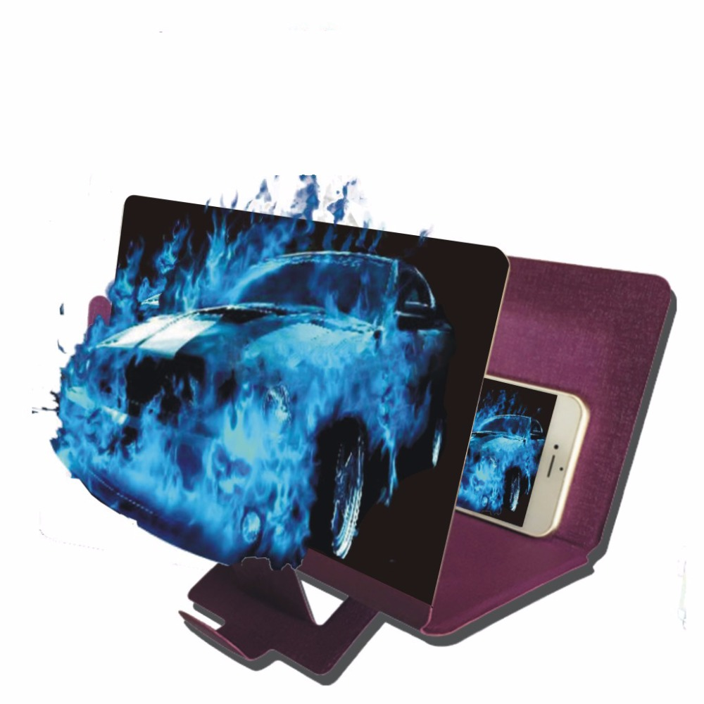 SICHTWEITE Universal Faltbare Tragbare Organische Glas Handy Bildschirm Lupe Halterung Vergrößern Mit Stand Für iPhone Handys 3X
