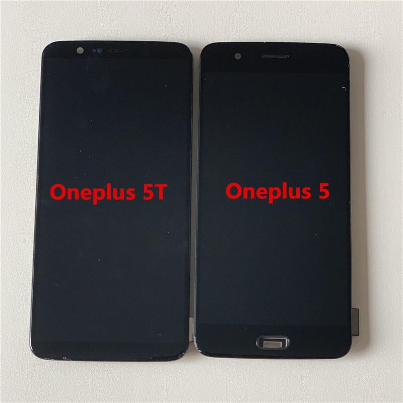 Image 4 - Oneplus 5T A5010 LCD 화면 디스플레이 + Oneplus 5 A5000 디스플레이 용 프레임이있는 터치 디지타이저 용 기존 Supor Amoled M & Sen휴대폰 LCD   -