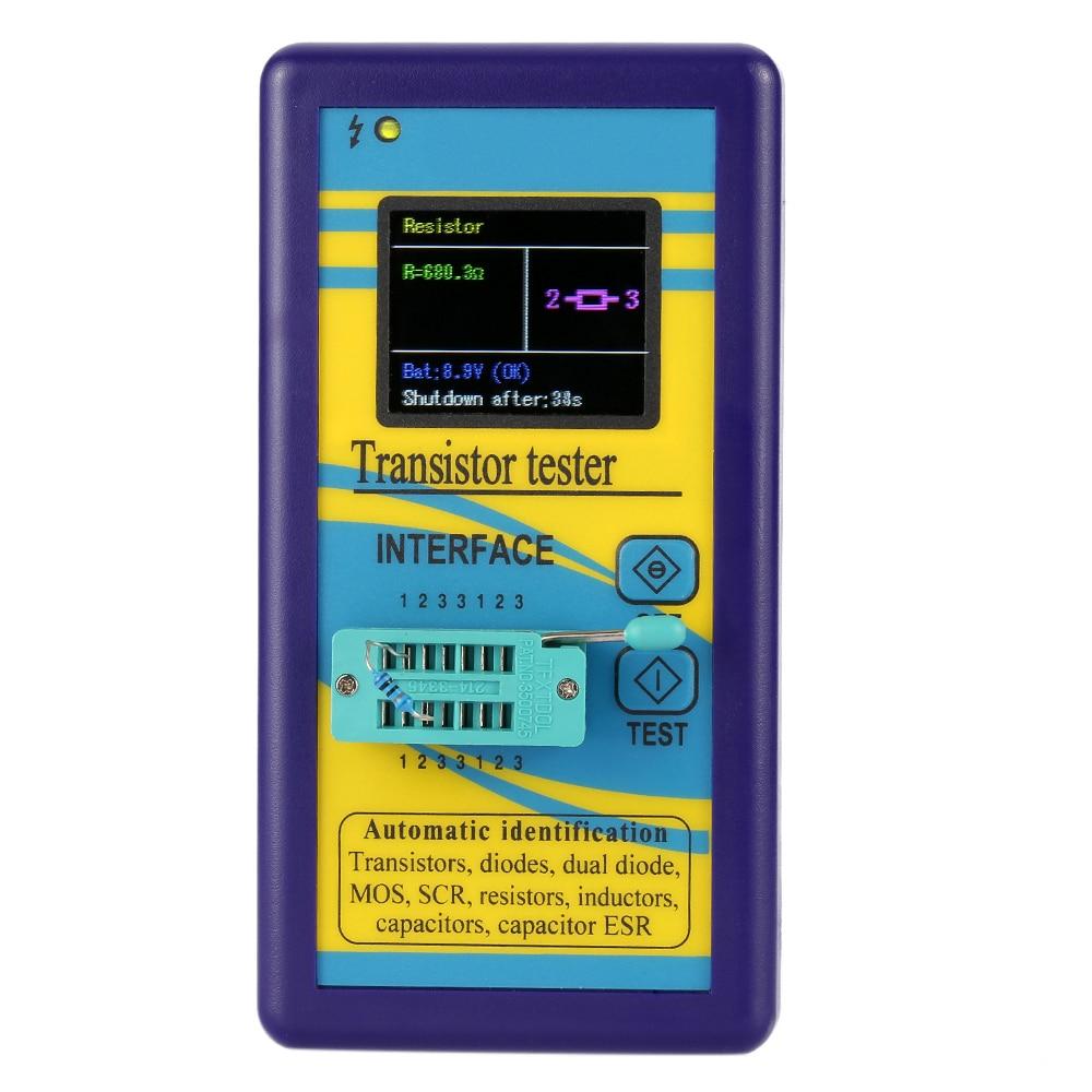 Multi functional Transistor Tester 128*160 TFT Color Display Diode Thyristor Capacitance Resistor Inductance MOSFET ESR Meter