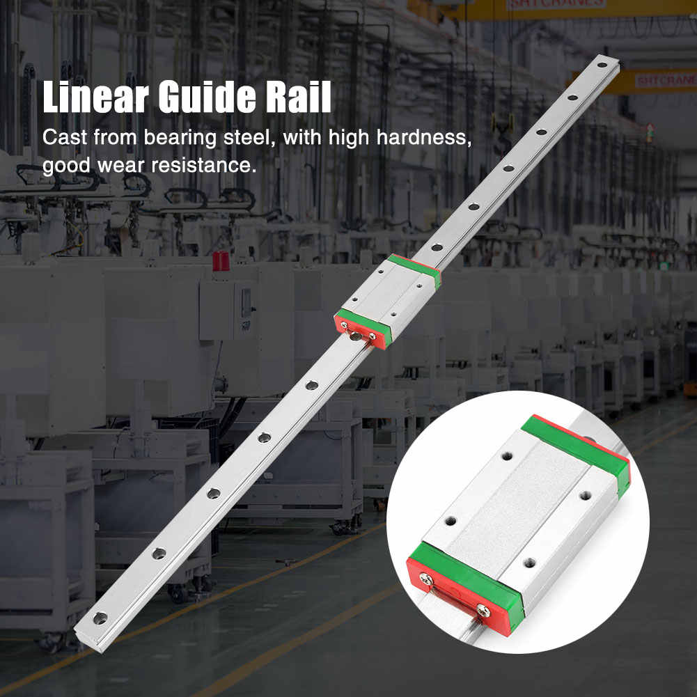 New LML15H Linear Slide Guide Rail 500mm Length with Extension Sliding Block High Quality
