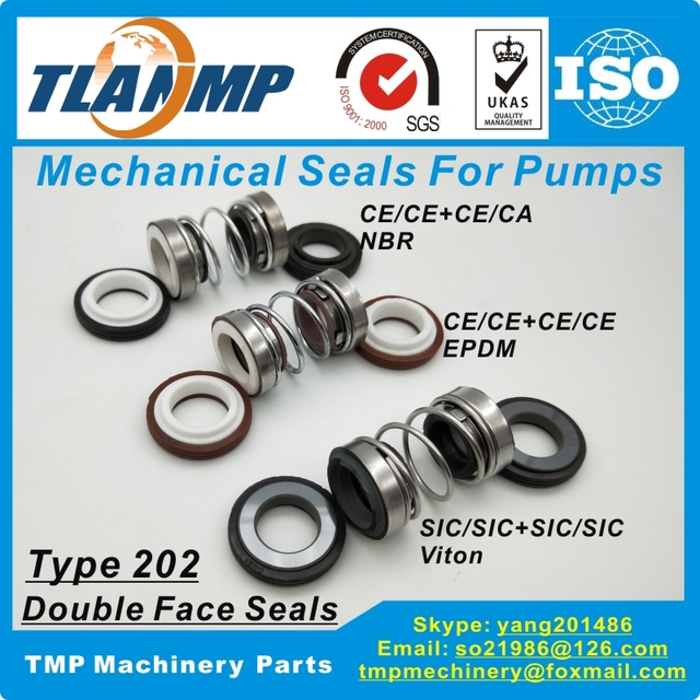 US $7 0 |202 25 Double Face Mechanical Seals (Material: CE/CE/EPDM  ,CA/CE/NBR, SiC/SiC/Viton) Shaft Size 25mm, Outersize of Seat 41mm-in Seals  from