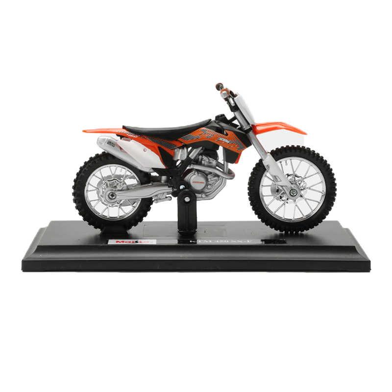 Maisto 1:18 Alloy Sepeda Motor Model Mainan Gunung Sepeda Motor Off-Road Sepeda Motor Balap Model Mobil Koleksi Mainan untuk Anak Laki-laki