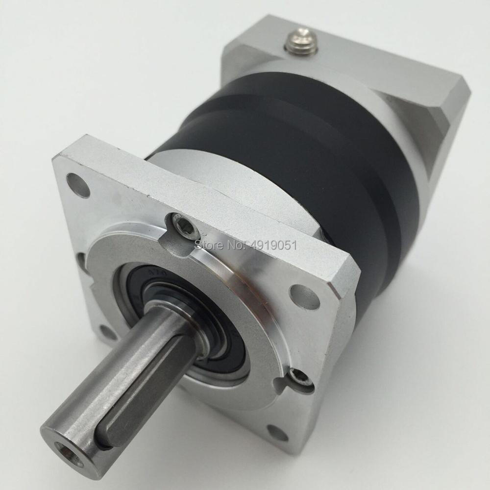 High Presicion 80:1 60mm Planetary Gearbox Geared Head 14mm Output Max 70Nm Shaft matched with Nema24 Servo Motor Speed ReducerHigh Presicion 80:1 60mm Planetary Gearbox Geared Head 14mm Output Max 70Nm Shaft matched with Nema24 Servo Motor Speed Reducer
