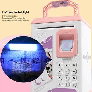 Image 5 - Piggy Bank Money Box Cash Coin Electronic Fingerprint ATM Password Coin Money Saving Box Jar Storage Box For Kids Birthday Gift