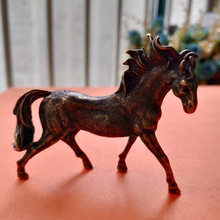 Collection Old Chinese archaize pure brass running horse small statue(China)