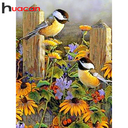 Huacan Diamond Embroidery Bird Full Square Diamond Painting Animal Full Display 5D DIY Picture Of Rhinestones Decor Home Gift