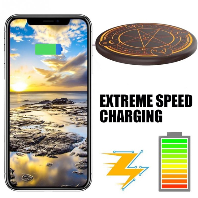 Wireless Anime Fast Charger Pad For iPhone/ Samsung with Box