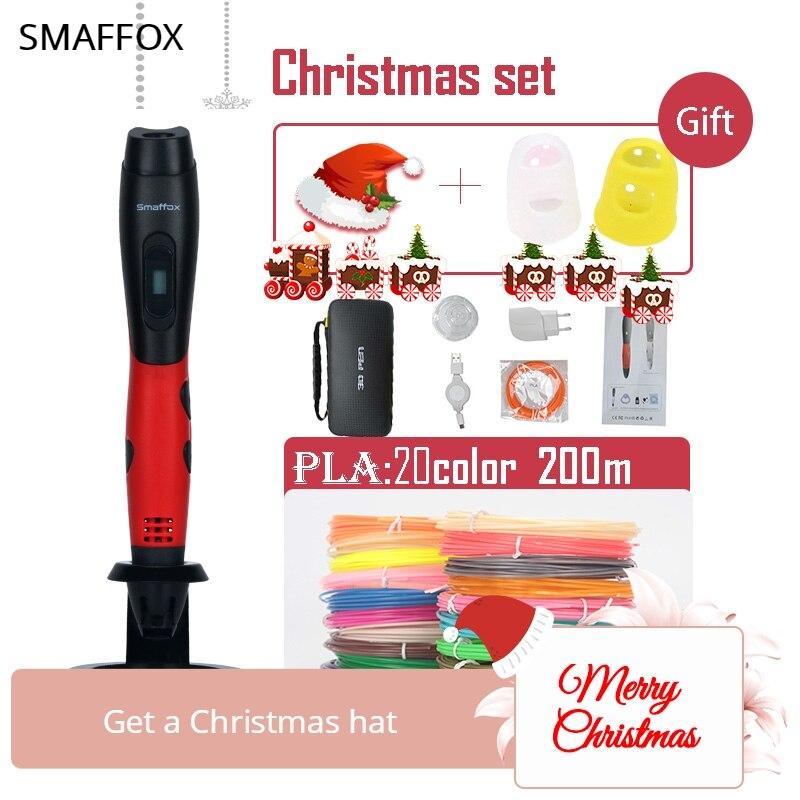2018 más 3D Impresión de pantalla OLED 1,75mm PLA 200 m + Navidad sombrero + dedo protectorl... navidad/regalo de cumpleaños