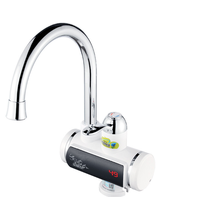 3000W 220V Tankless Electric Hot Water Heater Faucet Kitchen LED Instant Heat