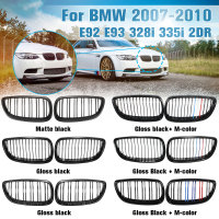 Front Grille Kidney Grill For BMW E92 E93 M3 328i 335i 2Door 2007 2008 2009 2010 Car Styling Gloss Matte Black M color Dual Line