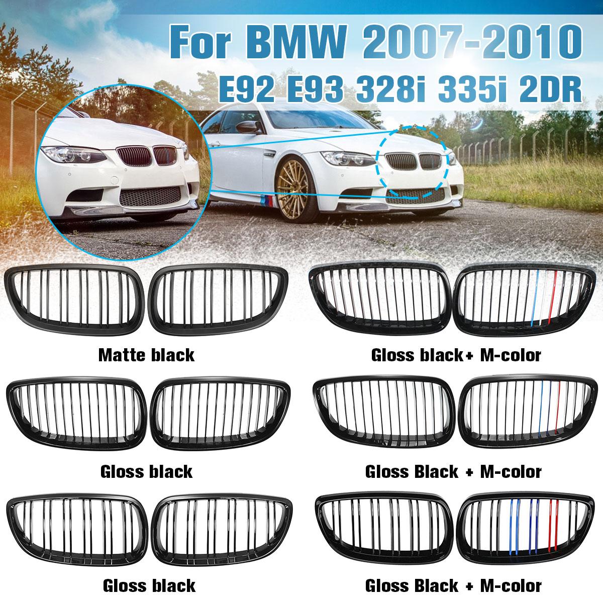 color negro brillante 3 Series E92 E93 Parrilla de ri/ñ/ón 2009 M3 2 puertas 2006