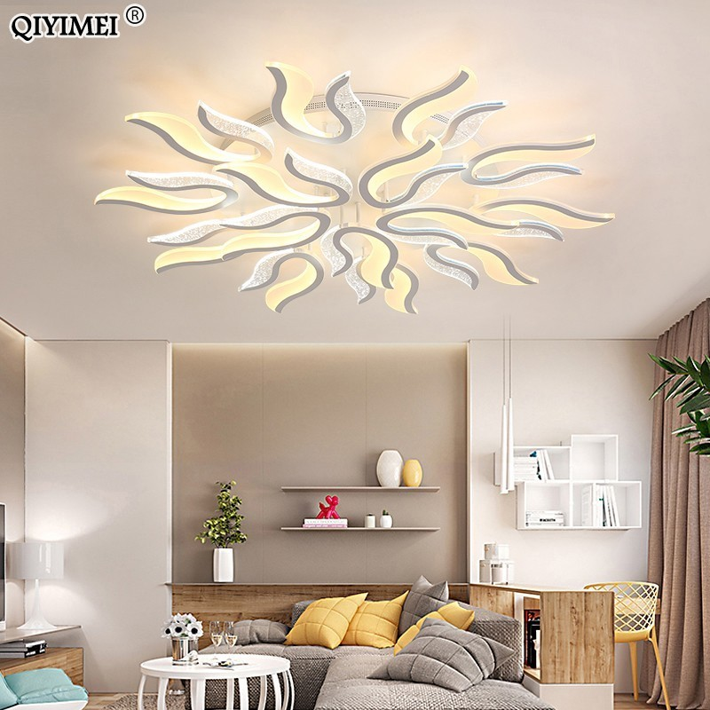 Modern New Acrylic Led ceiling Chandelier lights white color For Living Room Bedroom chandelier lighting lampadario