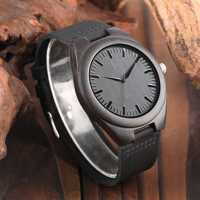 Engraved Woodern Watch DIY Words TO MY Boyfriend Pattern Quartz Wooden Watch Geniur Leather Band Souvenir Gifts For Boyfriend 3
