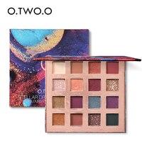 O. TWO. O Stellar Romance тени для век Палитра 16 цветов очаровательные тени для век матовые мерцающие блеск стойкая пудра Макияж